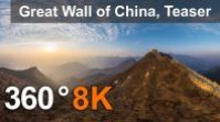 360 video teaser, Great Wall of China. Jiankou and Jiaoshan, 8K VR aerial video